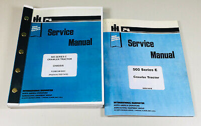 International 500e 500 Series E Crawler Dozer Tractor Service Manual Repair Shop