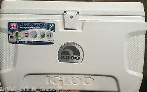 Igloo 54 Quart 51L Marine Ultra Heavy Duty Cool Box Ice Chest Cooler Camping