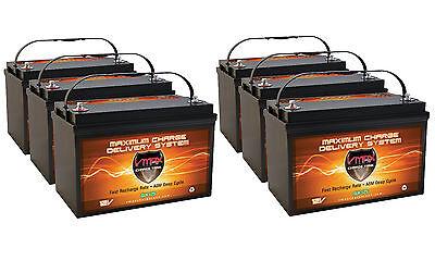 Qty 6 Slr125 Solar Agm Battery Hi Capacity Deep Cycle Maint Free