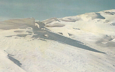 Chrome Postcard B158 Shadows White Sands National Monument New Mexico Desert