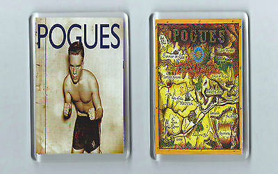 Magnets x 2 : THE POGUES Peace and Love Hell's Ditch punk alt. Irish Folk