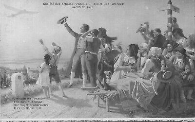 CP SALON 1912 L'OISEAU DE FRANCE PAR BETTANNIER - AVION FRONTIERE ANIMEE d'occasion  Expédié en Belgium