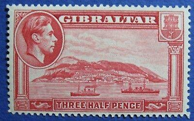 1938 GIBRALTAR 1 1/2d SCOTT# 109 SG# 123 UNUSED                          CS03420