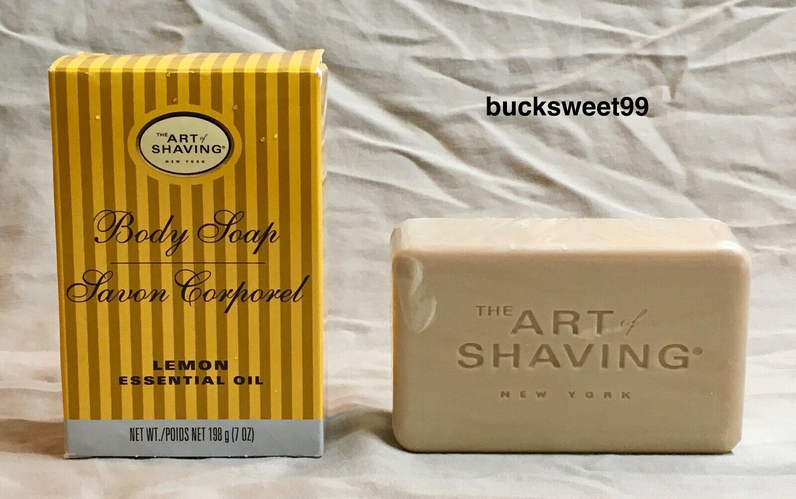 The Art Of Shaving Body Soap With Lemon Essential Oil