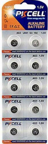 LR41 PKCELL 192 (10 piece) LR41 AG3 392A 192 SR41 LR736 392 Alkaline Battery