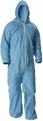Unisex Disposable Coverall Blue Zip Isolation Gown Color Blue 7428 Size 4xl