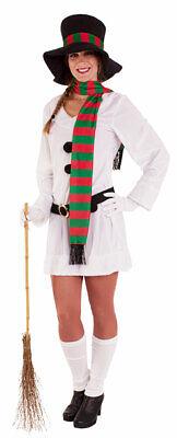 Schneemann Kostüm Erwachsene Schneefrau Hut Schal Olaf Damen - Schnee Weisse Frau Kostüme