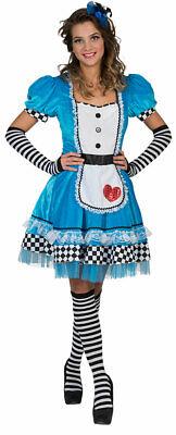 Alice im Wunderland Kostüm Damen Alice-Kleid Herz Märchen-Kostüm - Schwarz Alice Im Wunderland Kostüme