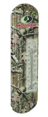 Mossy Oak Classic Tin Thermometer Fahrenheit Celsius  Metal Design Mo 60091