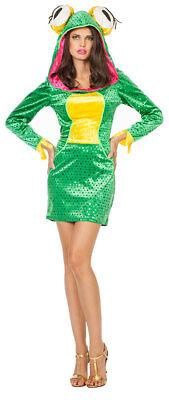 Frosch Kostüm Damen Kleid Froschkönigin Froschkönig  Karneval Fasching - Gelbe König Kostüm
