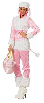 Rosa Pudel Hund Kostüm (Pudel Damen-Kostüm rosa Hund Hunde Kostüm Tier Kostüm Karneval KK)
