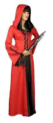Karneval Klamotten Kostüm Kleid rote Ritterdame Fasching Karneval - Ritter Kostüm Kleid
