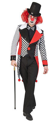 Pierrot Kostüm Herren Narren schwarz weiß rot Frack Fasching Karneval - Herren Narr Kostüm