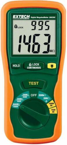 ExTech 380260 Autoranging Digital Megohmmeter 1000V Digital Tester Large Display