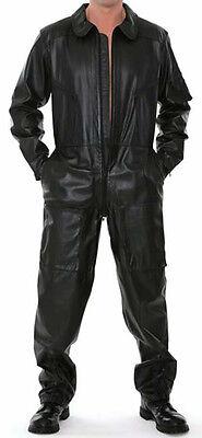 M01 Herren Lamm Nappa Leder Body Catsuite Anzug Overall Marke Erogance Gr. XXXL
