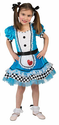 Alice im Wunderland Kostüm Mädchen Kinder Alice-Kleid Märchen-Kostüm Karneval KK