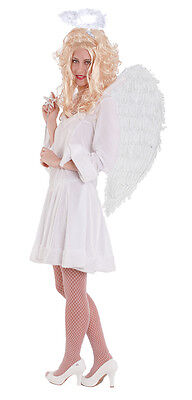 Engelskostüm Engel Kostüm Damen sexy Kleid weiß Weihnachten Damenkostüm KK