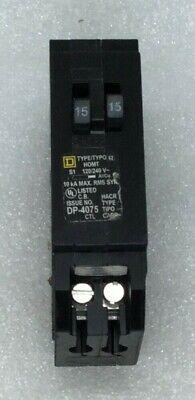 Square D Homt1515 Tandem 15 Amp 1 Pole 120 Volt Circuit Breaker Hom1515
