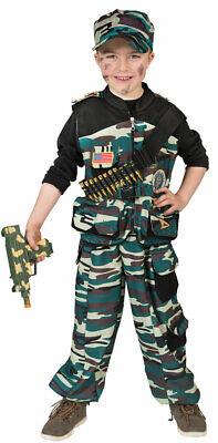 Soldat Kostüm Kinder Soldatenkostüm Jungen Militär Soldat-Mütze FAsching KK