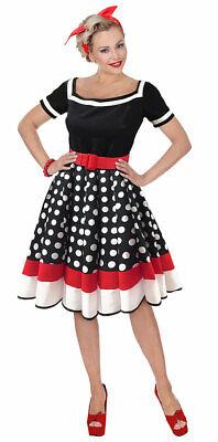 50er Jahre Kostüm Damen Rockabilly-Kleid Retro 60er Jahre Rock n Roll Fasching K