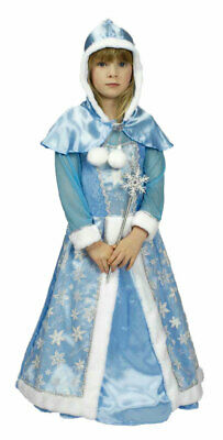 Eisprinzessin Kleid Schneekönigin Kostüm Mädchen mit Stab Elsa Frozen Fasching (Frozen Elsa Schnee Königin Kostüm)