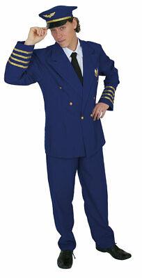 Pilotenkostüm Herren Pilot Uniform Pilotenmütze Herrenkostüm Fasching Karneval - Herren Uniform Kostüme