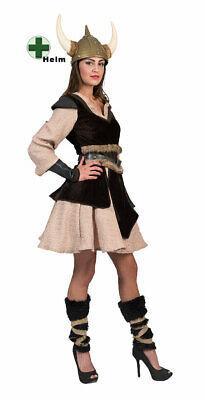Wikinger Kostüm Damen Vikings Nordmann Barbarin Damenkostüm mit - Wikinger Mann Kostüme