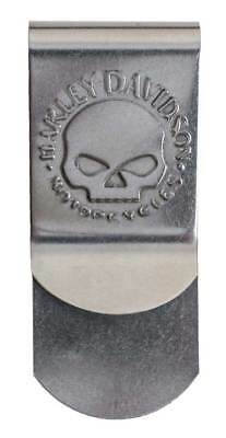 Harley-Davidson Men's Willie G Skull Metal Money Clip, Silve