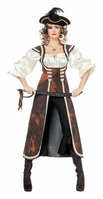 Piratenkostüm Damen Piratin Piratenbraut langen Piratenmantel Fasching - Pirat Mantel Damen
