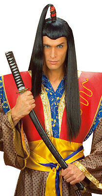 Karneval Klamotten Kostüm Perücke Chinese Samurai Zubehör Fasching Karneval
