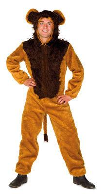 Löwe Kostüm Erwachsene Löwe Herrenkostüm Plüsch Overall mit Kapuze Fasching KK