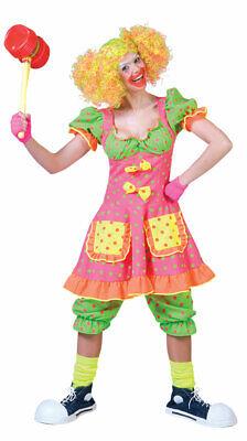 Neon Clown Kostüm Damen Clownkleid Frauen Clownshose Zirkus - Rosa Clown Kostüme