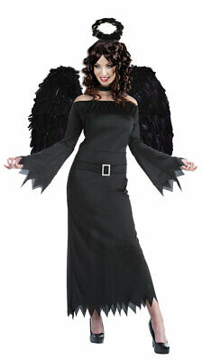 Schwarzer Engel Damen-Kostüm Halloween Todes Engel schwarz ohne Flügel KK