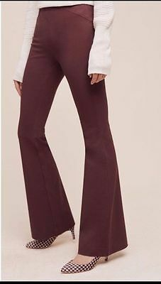Anthropologie The Essential Flare Women's Burgundy Pants Size 8 NWT $ 98
