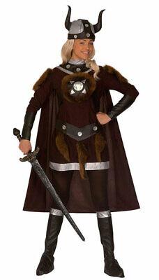 Wikinger Kostüm Damen Nordmann Barbarin Umhang Wikingerhelm Viking - Wikinger Mann Kostüme