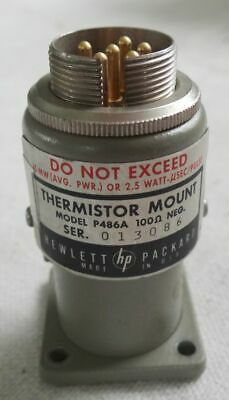 Hp Thermistor Mount Model P486a Wr62 12.4-18.0ghz