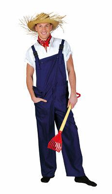 Bauarbeiter Latzhose Kostüm Erwachsene blau Herren Damen Karneval Fasching KK