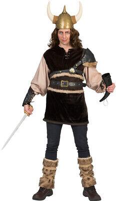Wikinger-Kostüm Herren Nordmann-Kostüm Viking Vikings mit Stulpen - Wikinger Mann Kostüme