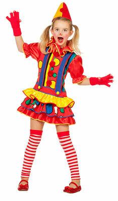 Clown Kostüm Mädchen buntes Clown-Kleid Harlekin Zirkus Kinder-Kostüm - Kind Bunte Clown Kostüme