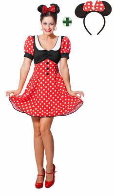 Minnie Maus Kostüm Damen Minni Micky Mickey Mouse - Mickey Mouse Kostüme