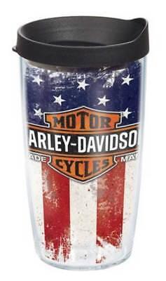 Harley-Davidson Tervis Tumbler, Distressed USA Flag B&S Wrap, 16 oz. (16 Ounce Wrap Tumbler)