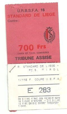 TICKET STANDARD LIEGE - TIROL INNSBRUCK 5/11/1986 C3