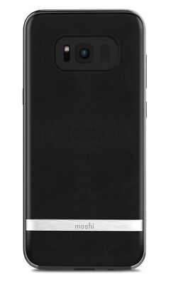 50X MOSHI Napa Vegan Leather If it should happen for Samsung Galaxy S8+ Plus in Black