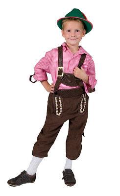Oktoberfest Tirolerhemd pink weiss kariert Kostüm Kinder Bayernhemd Trachten - Kind Oktoberfest Kostüm