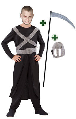 Sensenmann Kostüm Horror mit Sense Kinderkostüm Halloween Der - Der Sensenmann Halloween Kostüm