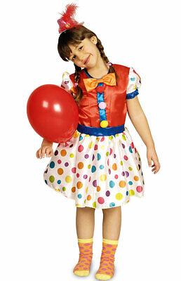 Clown Kostüm Mädchen bunt Punkte süßes Clownkostüm Harlekin - Kind Bunte Clown Kostüme