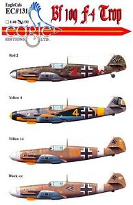 EagleCals-Decals-1-32-MESSERSCHMITT-Bf-109F-4-TROP-Fighter-Part-2