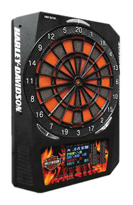 Harley-Davidson Bar & Shield Flaming Electronic Dart Board, 18 x 24 inch 61969