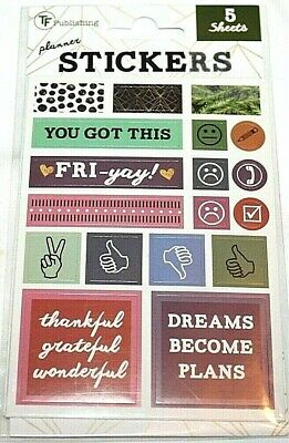 TF Publishing Planner Stickers  5 Sheets