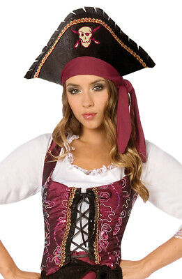Piratenkostüm Damen Piratin Piraten-Weste bordeaux Karneval Fasching KK